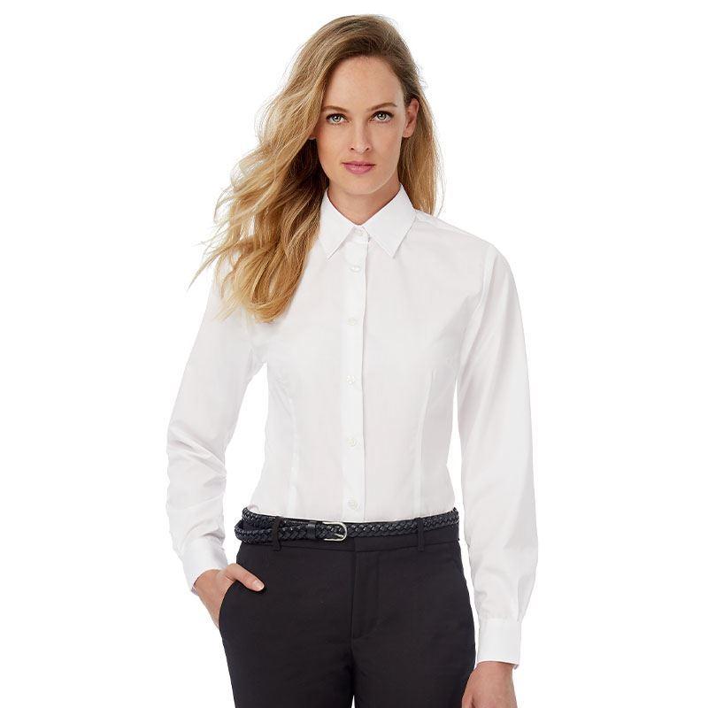 B/&C Ladies Smart Long Sleeve Corporate Shirt-SWP63